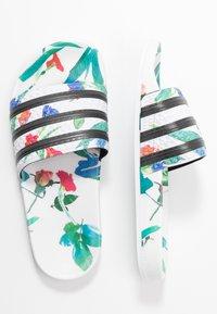 adidas Originals - ADILETTE  - Mules - footwear white/core black - 3