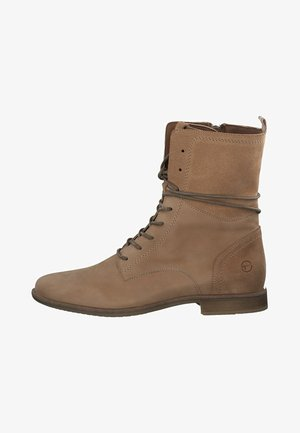 Lace-up ankle boots - light camel