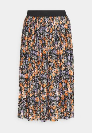 JDYBOA SKIRT - A-line skirt - black/orange