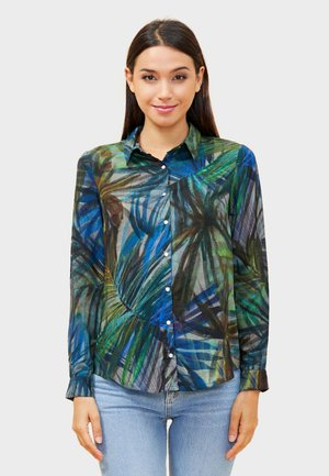 FEBY - Button-down blouse - green