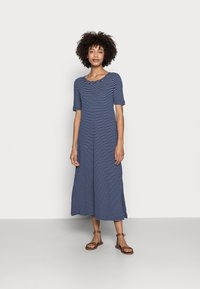 Esprit - WAFFLE DRES - Jersey dress - dark blue - 0