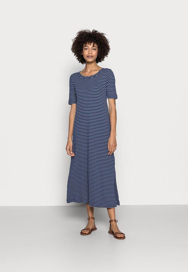 WAFFLE DRES - Jerseyklänning - dark blue
