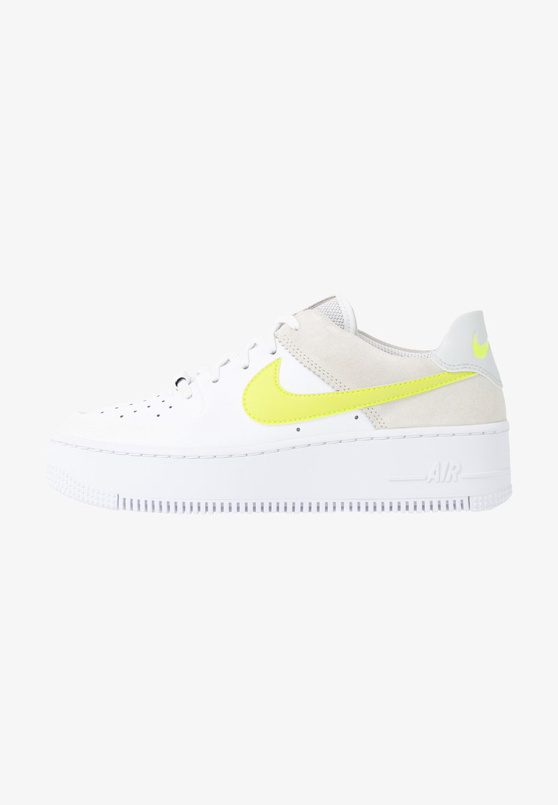 Nike Sportswear Air Force 1 Sage Sneakers Laag White Lemon Pure Platinum Fossil Sail Wit Zalando Nl