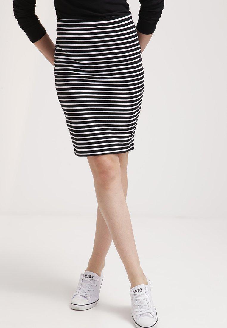 Zalando Essentials - Falda de tubo - black/white