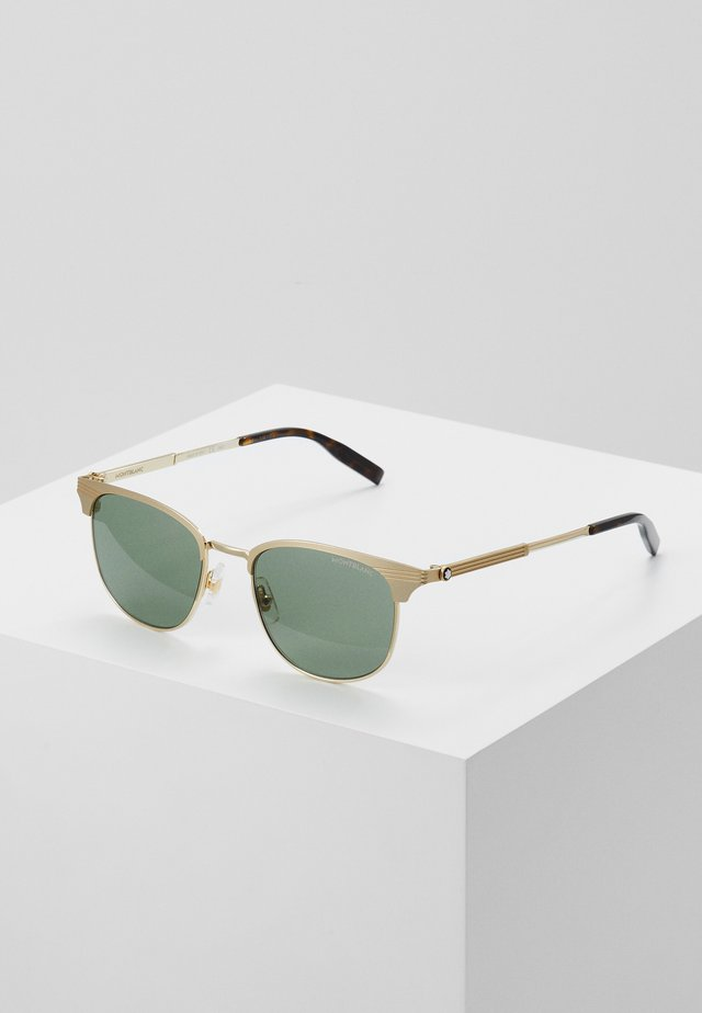 Sonnenbrille - gold-coloured/green