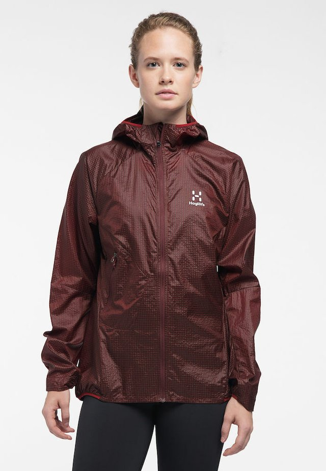 L.I.M SHIELD COMP HOOD - Hardshell jacket - maroon red