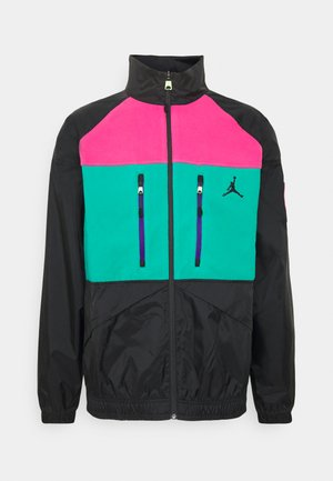 MOUNTAINSIDE JACKET - Giacca leggera - black/neptune green/watermelon