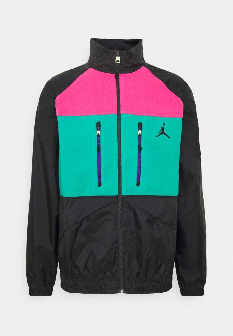 Jordan - MOUNTAINSIDE JACKET - Summer jacket - black/neptune green/watermelon