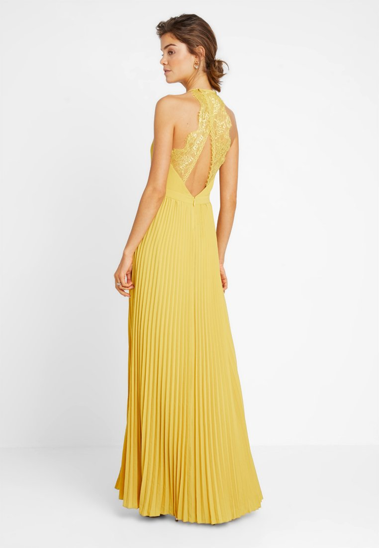 pleated gown - ballkleid - yellow