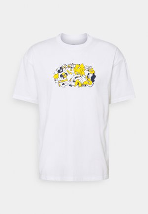 TEE TUSSLE UNISEX - Print T-shirt - white