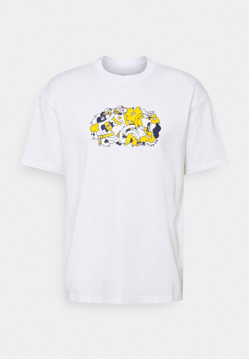 Nike SB - TEE TUSSLE UNISEX - T-shirt med print - white