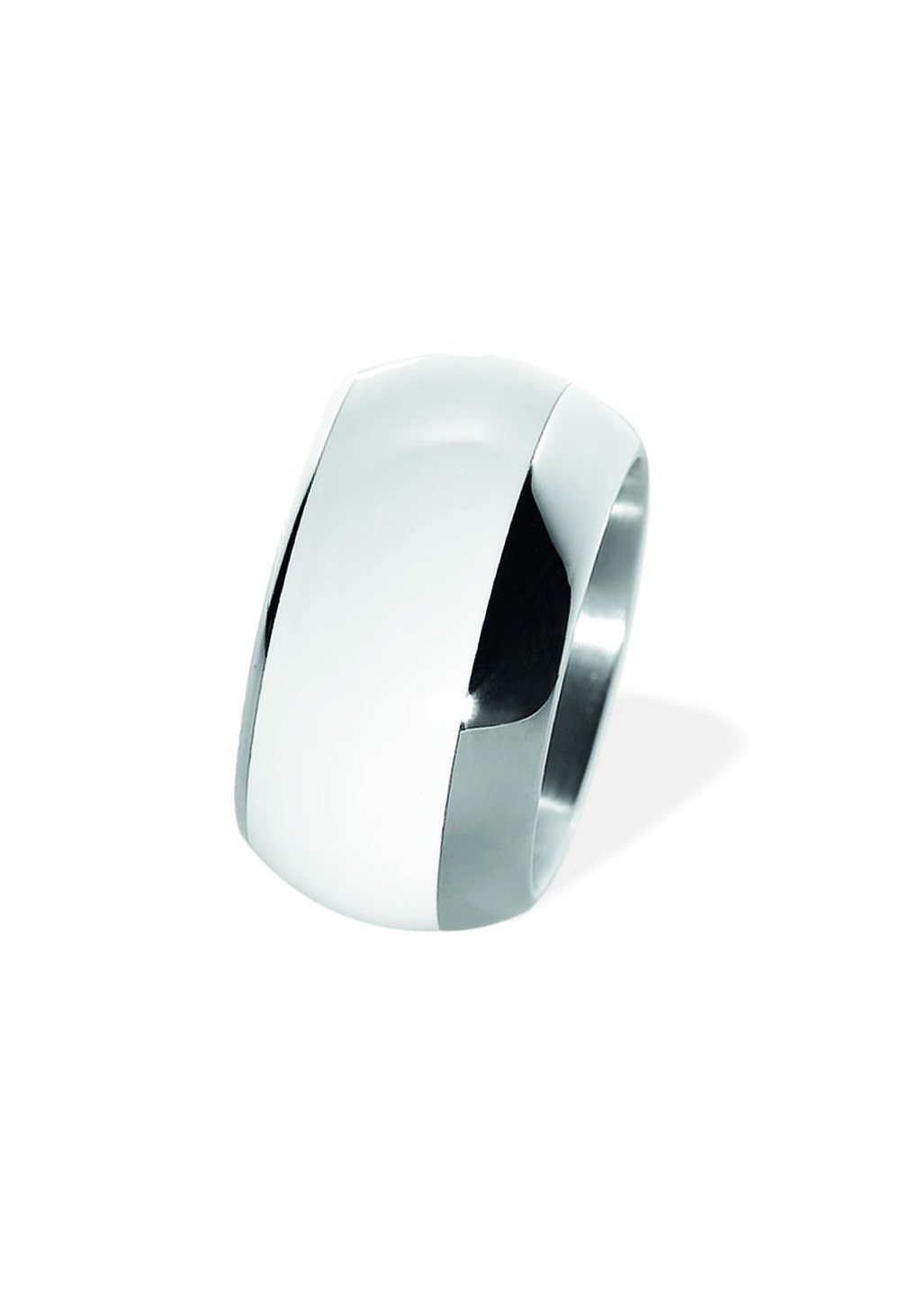 Homme WITH CERAMIC WHITE - Bague