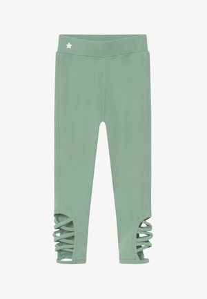 GIRLS CUT OUT LEGGINGS - Tights - sage green