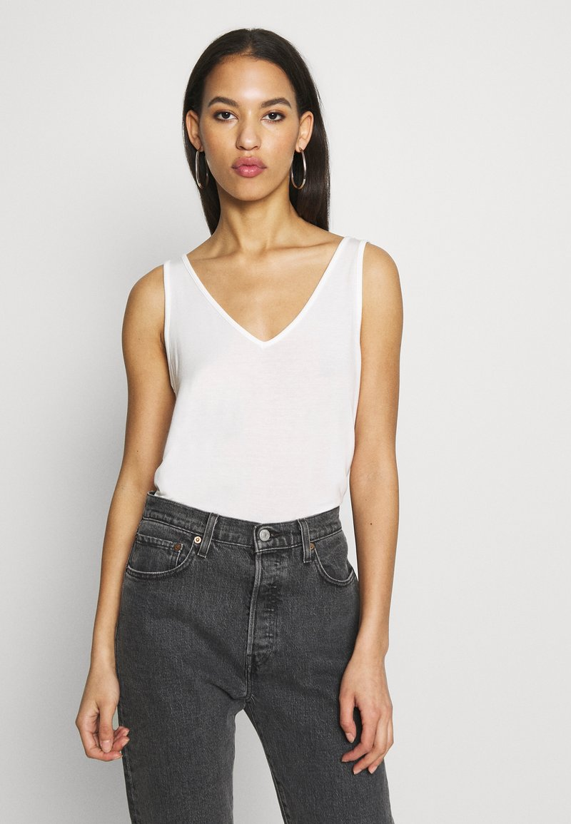 Vero Moda - VMAVA V-NECK - Top - snow white