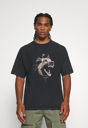 RABIES - Print T-shirt - black washed