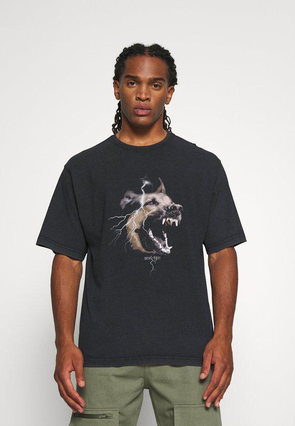 WRSTBHVR RABIES - T-shirt z nadrukiem - black washed/czarny Odzież Męska IXYV