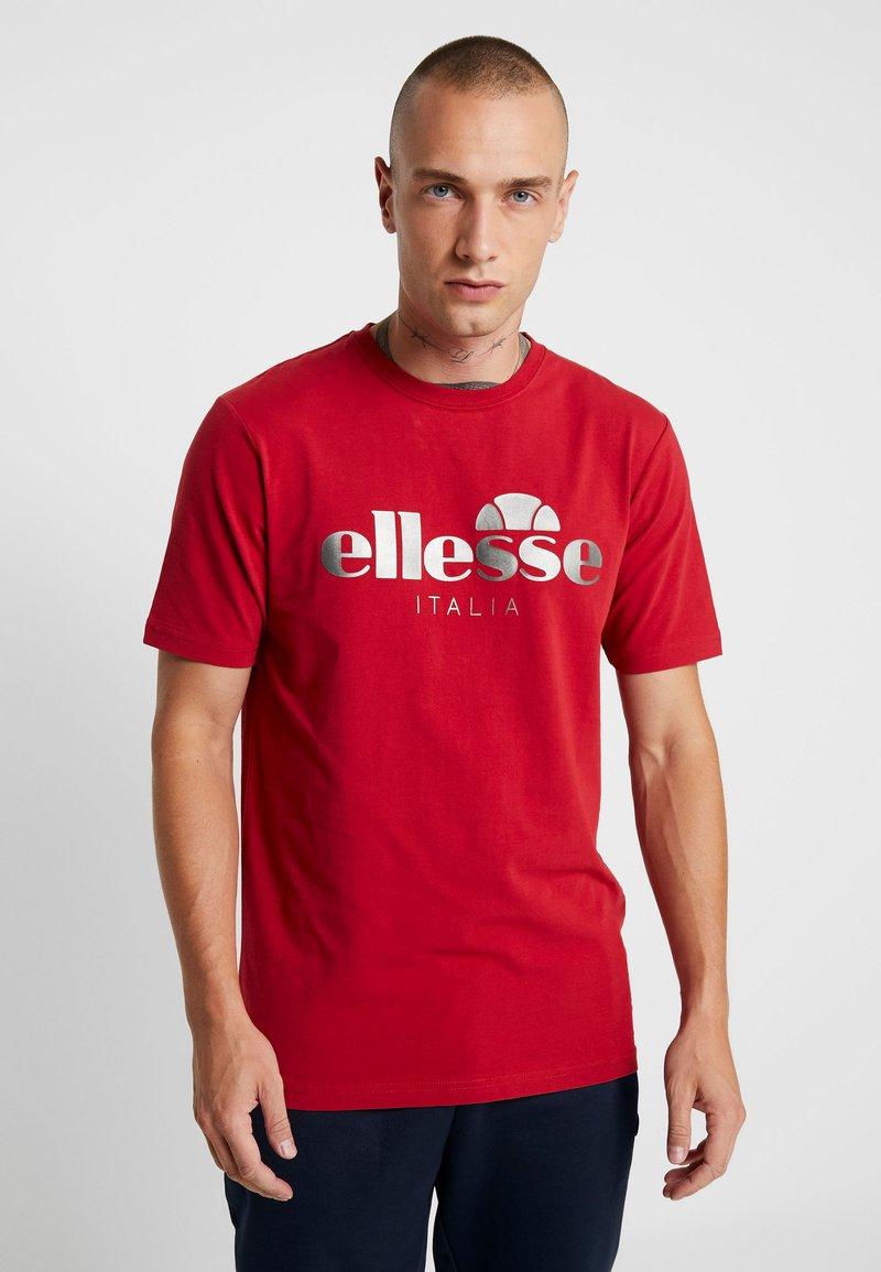 Ellesse - LUCCHESE - T-shirt imprimé - burgundy