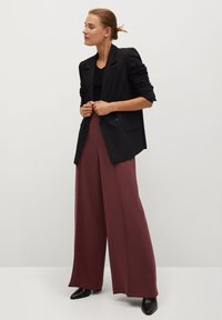 Mango - ELODY - Trousers - wine - 1