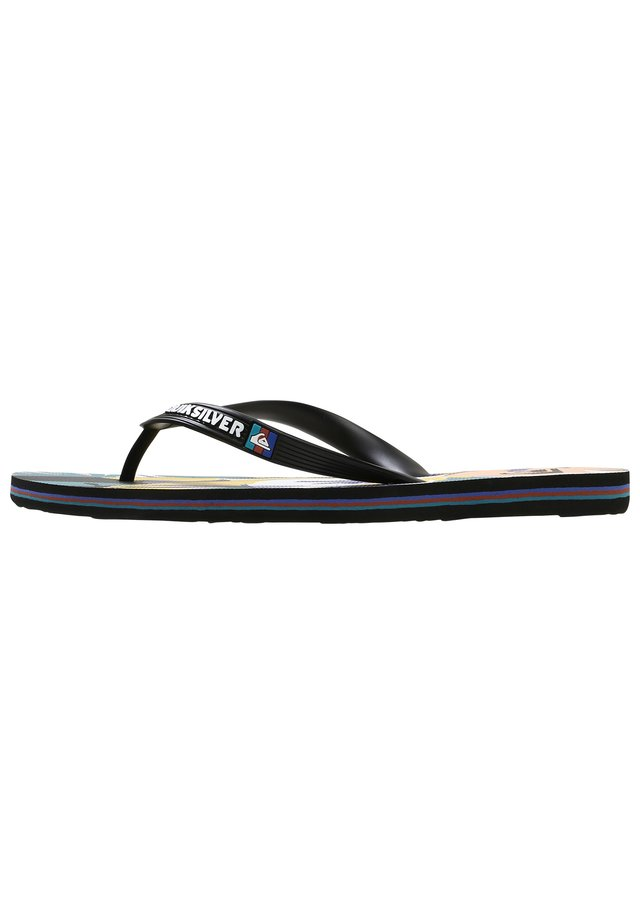 MOLOKAI TROPICAL FLOW  - Japonki - black/white/blue