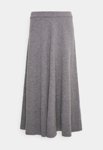 PAOLA - A-line skirt - dark grey melange