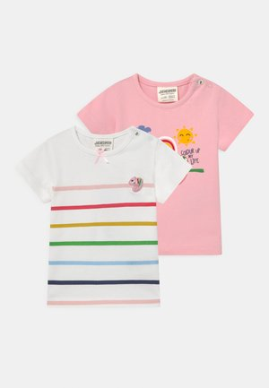 COLOUR UP MY LIFE 2 PACK - Print T-shirt - light pink/multi-coloured