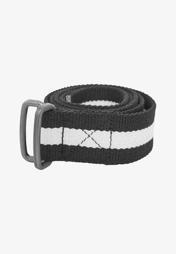 Belt - black/white/black