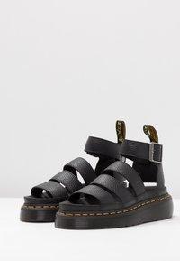 Dr. Martens - CLARISSA QUAD - Platform sandals - black aunt sally - 2