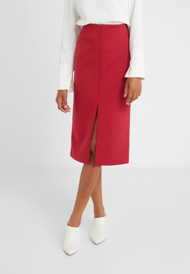 SKIRT SEVERINE - Pencil skirt - rouge/eggshell