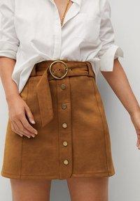 Violeta by Mango - SEVEN - A-line skirt - schokolade - 4