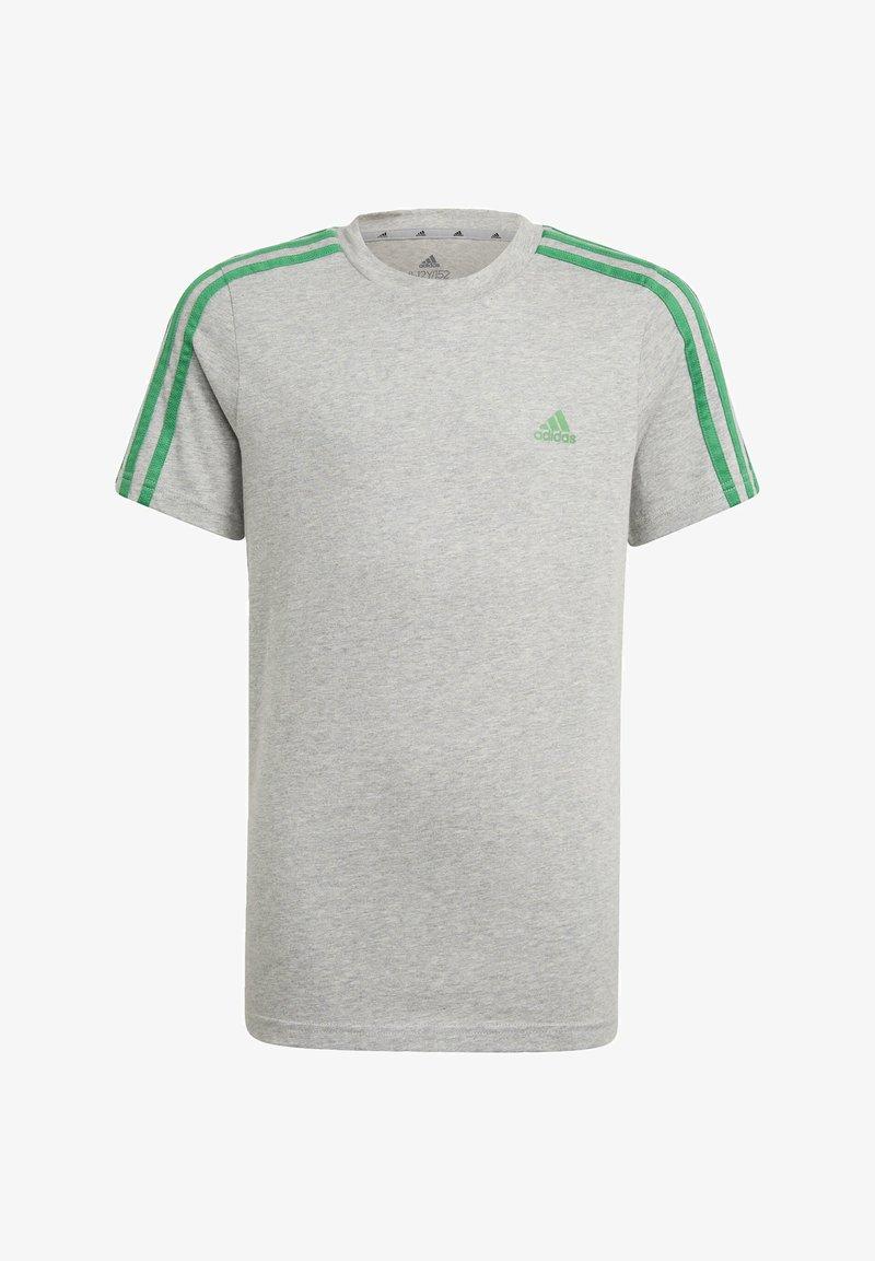 adidas Performance - ADIDAS ESSENTIALS 3-STRIPES T-SHIRT - Print T-shirt - grey