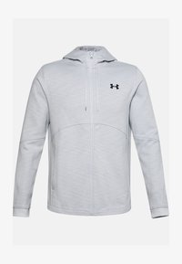 Under Armour - DOUBLE KNIT FZ HOODIE - Zip-up hoodie - halo gray - 0