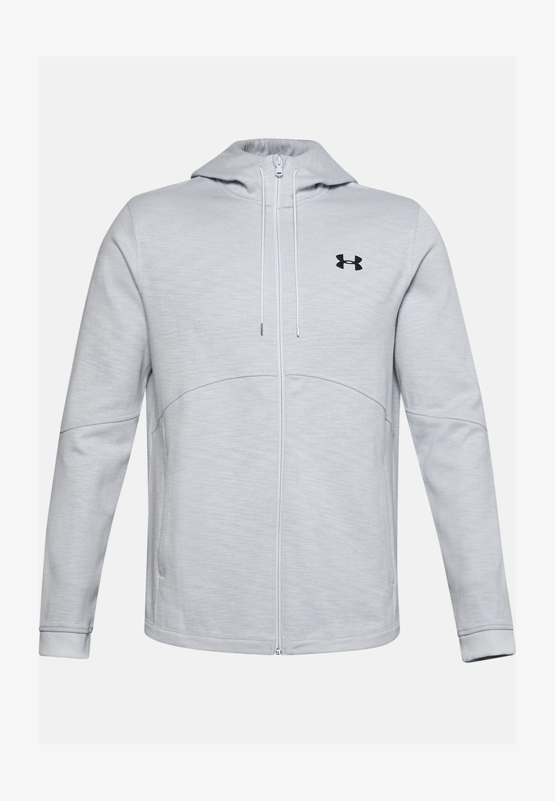 Under Armour - DOUBLE KNIT FZ HOODIE - Zip-up hoodie - halo gray