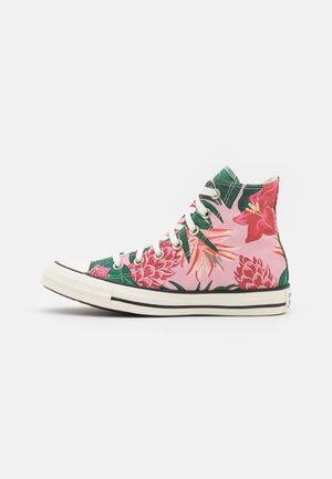 CHUCK TAYLOR ALL STAR JUNGLE SCENE UNISEX - Sneakersy wysokie - egret/pink/black