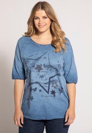 Print T-shirt - blaubeere