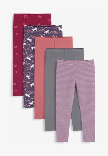5 PACK - Leggings - Trousers - berry