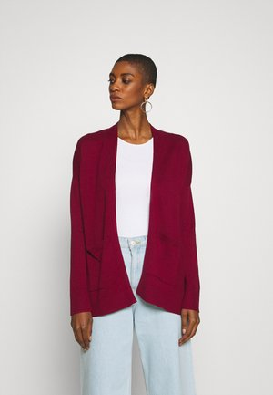 Strickjacke - bordeaux red