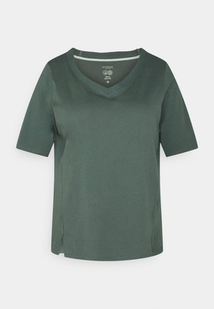 V-NECK - Basic T-shirt - washed jasper green