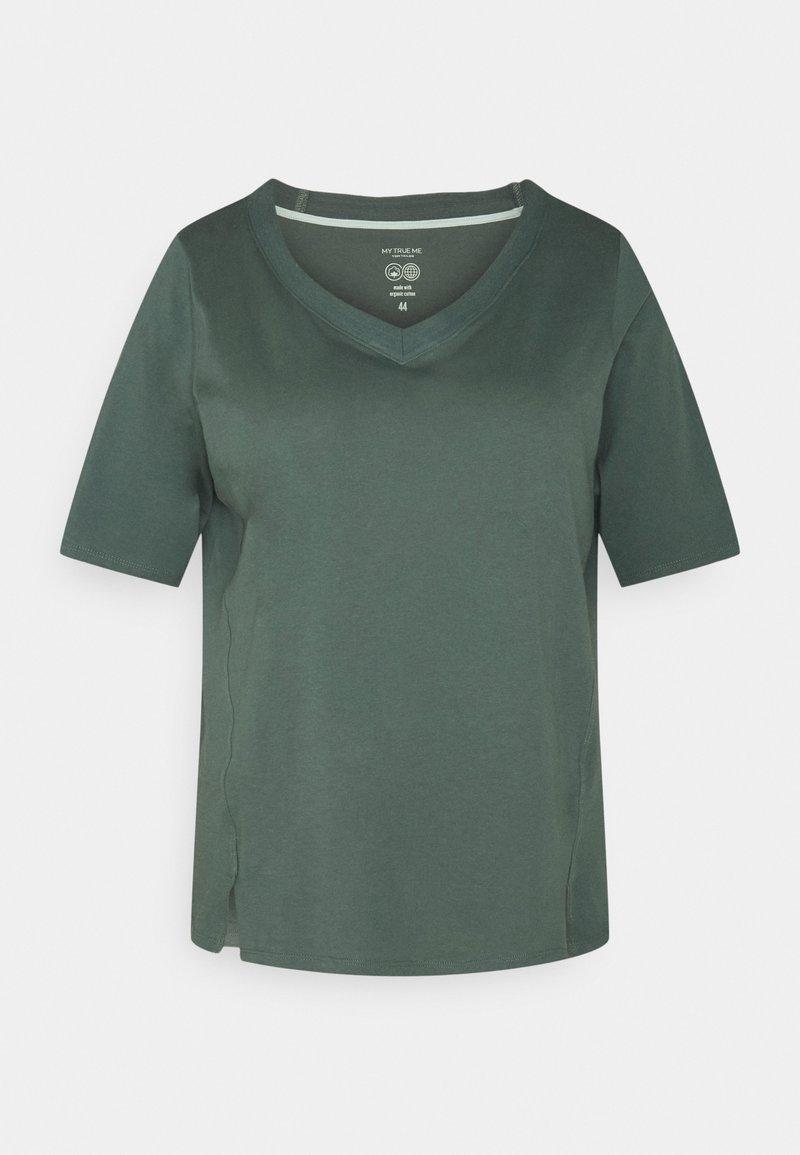 MY TRUE ME TOM TAILOR - V-NECK - Basic T-shirt - washed jasper green