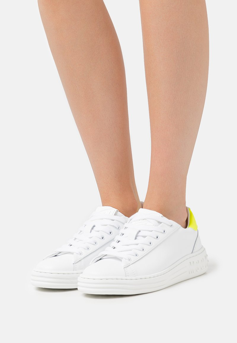 MSGM - SCARPA DONNA SHOES - Tenisky - neon yellow/optic white