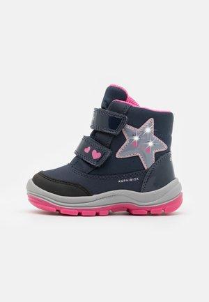 FLANFIL GIRL ABX - Snowboots  - navy/fuchsia