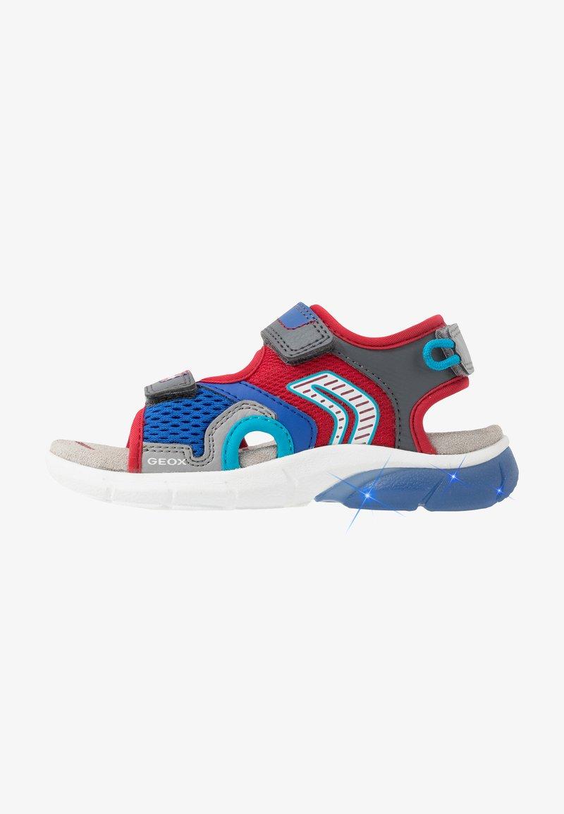 Geox - FLEXYPER - Walking sandals - grey/red