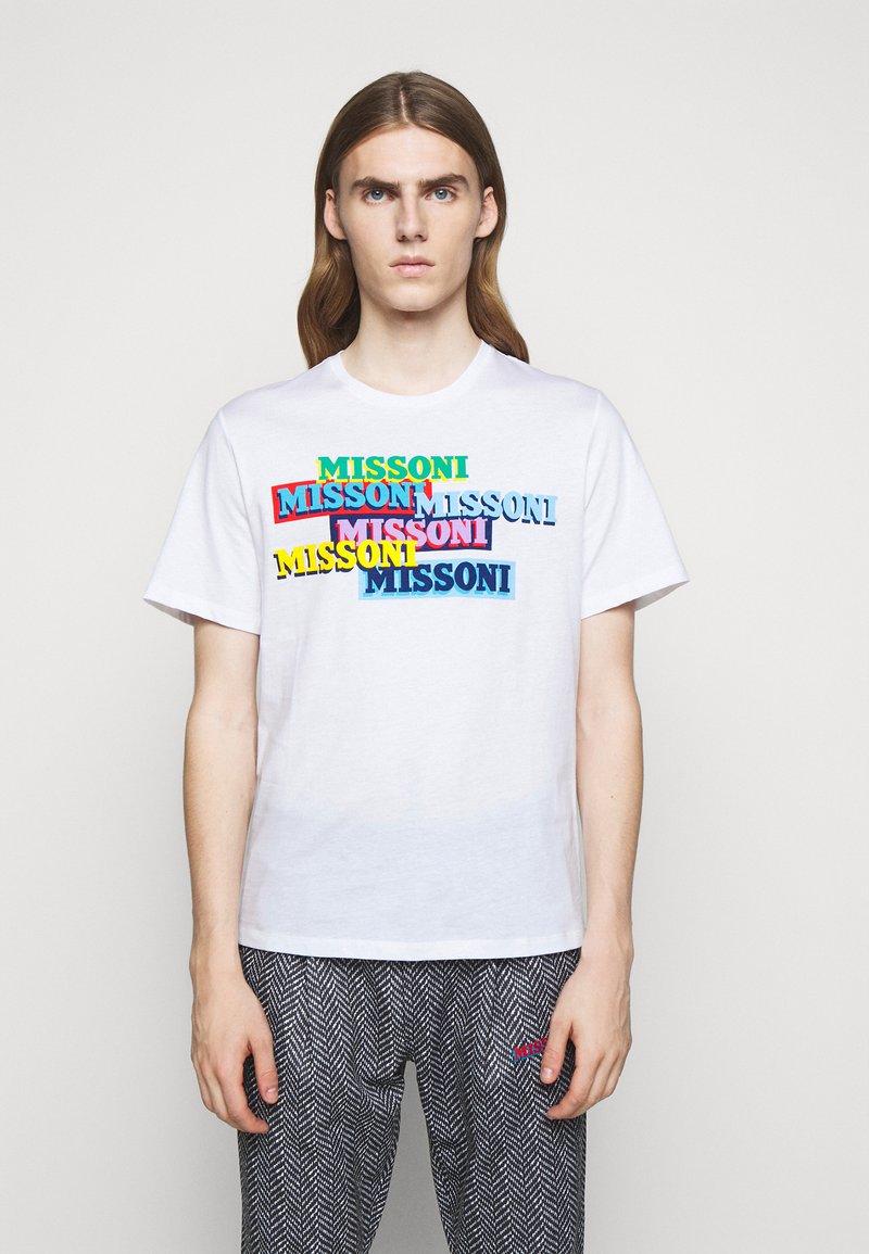 Missoni - SHORT SLEEVE  - T-shirt con stampa - white