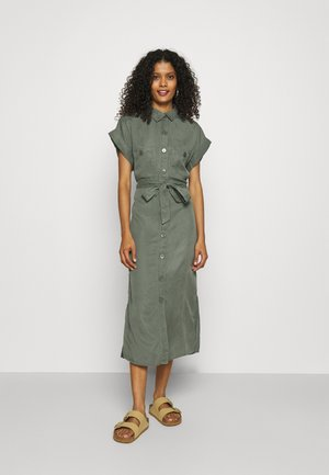 DRESS MILLIE - Skjortekjole - dusty green