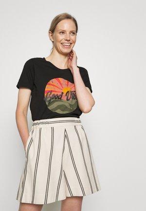 KAJACINTA - Print T-shirt - black deep