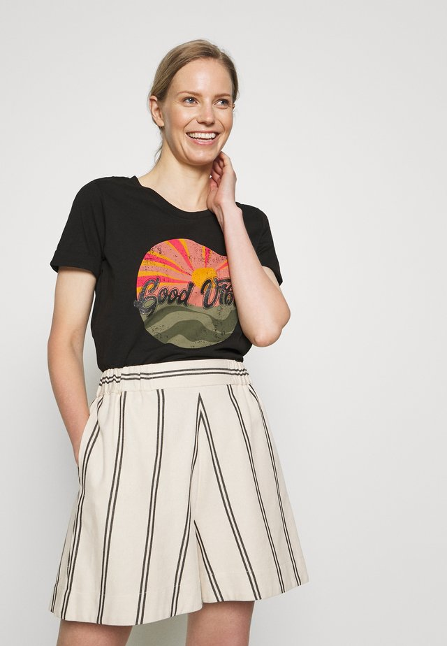 KAJACINTA - T-shirt imprimé - black deep
