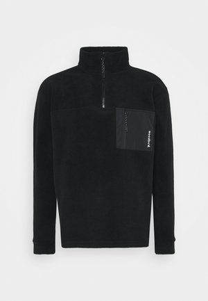 FRINCK ZIP - Fleecepaita - black