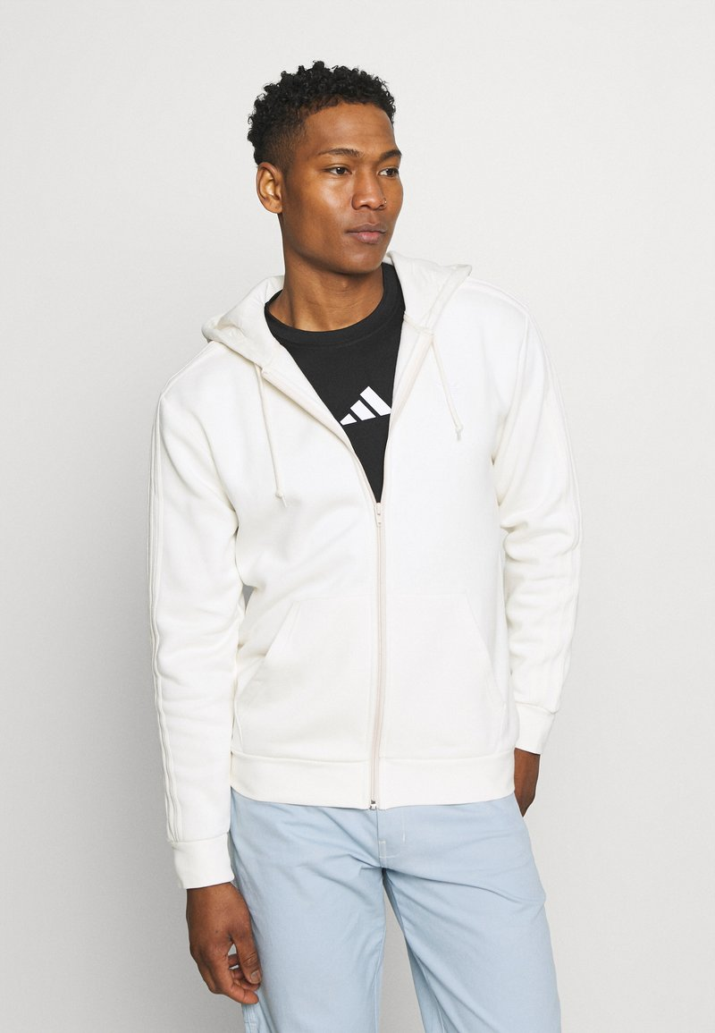 adidas Originals - ADICOLOR 3-STRIPES FULL-ZIP NO-DYE HOODED TRACK TOP - Mikina na zip - non-dyed