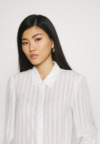 Anna Field - Semi sheer blouse - Camisa - white - 3