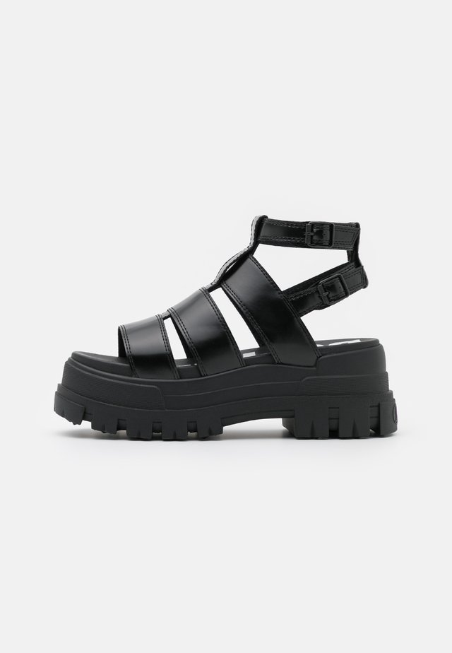 VEGAN ASPHA  - Sandalen met plateauzool - black