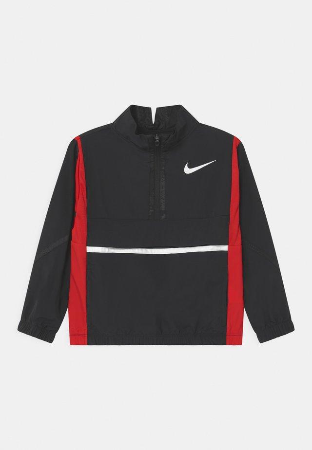 CROSSOVER  - Veste de survêtement - black/university red/white